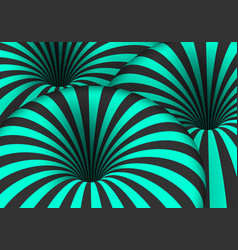 Tunnel spiral optical effect vector
