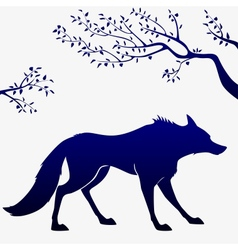 wolf outline vector image
