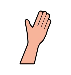 Hand human help gesture fingers palm icon vector