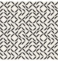 Seamless Black and White Irregular Arc Grid vector image