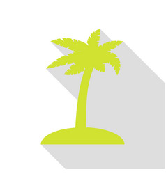 Coconut palm tree sign pear icon with flat style vector