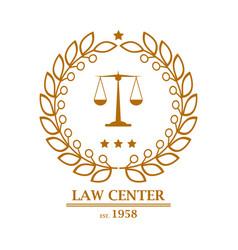 Law firm office center logo design vector