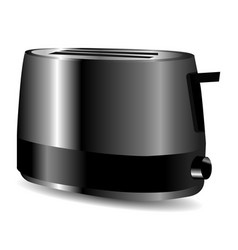 Bright metal glossy toaster vector