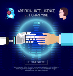 Artificial intelligence background concept vector