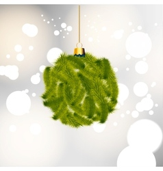 Background with christmas balls vector image