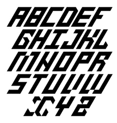 Modern black alphabet on white vector
