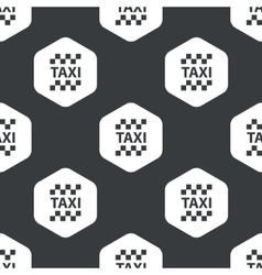 Black hexagon taxi pattern vector