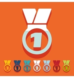 Flat design medal vector