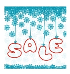 Winter style sale poster vector