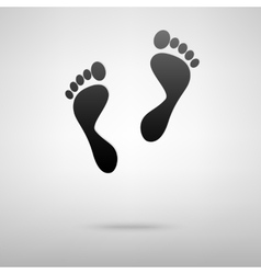 Foot prints black icon vector