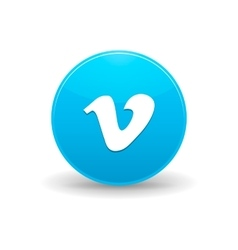 Vimeo icon simple style vector