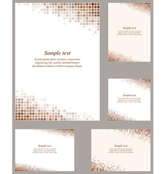 Brown page corner design template vector
