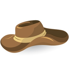 Brown cowboy hat vector