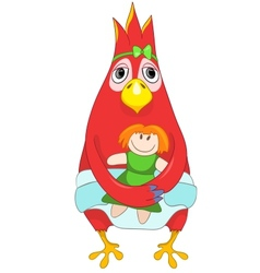 Funny Baby Parrot vector image