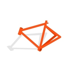 Bicycle frame icon isometric 3d style vector