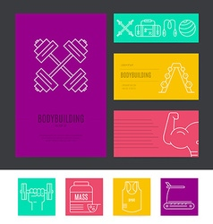 Gym business set vector