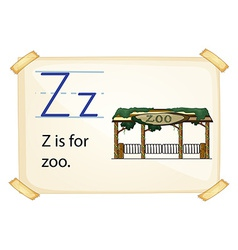 A letter Z for zoo vector image vector image