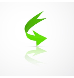 Abstract 3d Green Arrow Icon vector image vector image