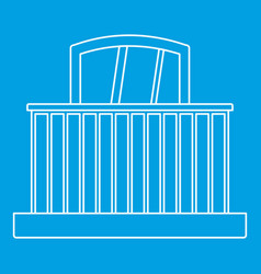 Balcony with railing icon outline style vector