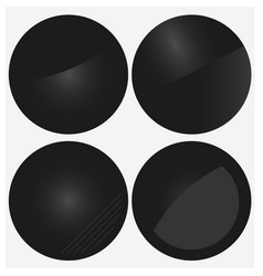 black circle banners vector image