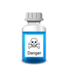 Bottle with colored toxic solution vector