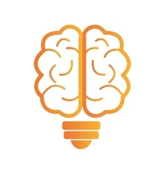 Brain storm human organ icon vector