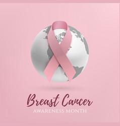 breast cancer awareness month design vector image