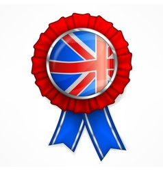 British award ribbon vector image vector image