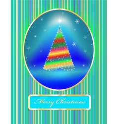 card a fir-tree with toys vector image vector image