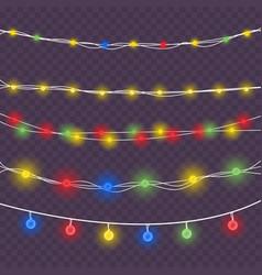 christmas colored lights vector image