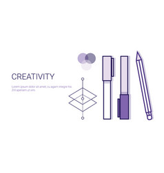 creativity business concept process of creative vector image vector image