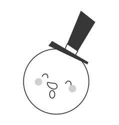cute snowman icon vector image vector image