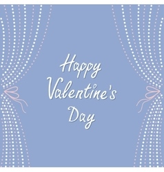 Dash line curtainshappy valentines day love vector