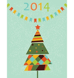 Decoration with stylized fir tree vector image vector image