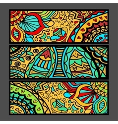 ethnic pattern cards vector image