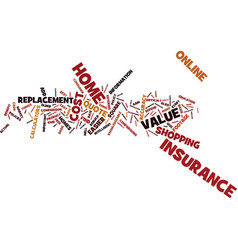 Free home insurance quote it s free and easy text vector