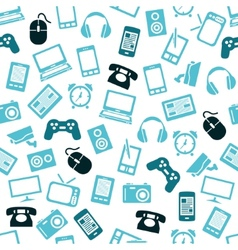 gadget seamless pattern vector image vector image