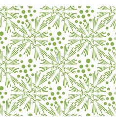 Greenery dandelion seamless pattern wallpaper vector
