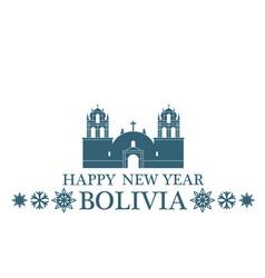 Happy new year bolivia vector