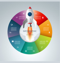 infographic circle with 7 options start up vector image vector image
