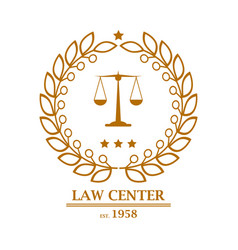 Law firm office center logo design vector