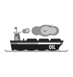 Oil tanker ship production and transportation of vector