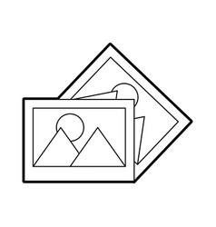 Pictures data file icon vector