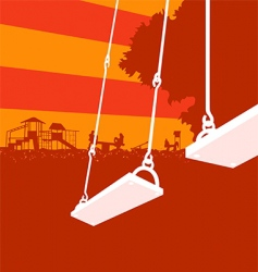 playground sunset vector image vector image