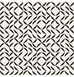 Seamless Black and White Irregular Arc Grid vector image