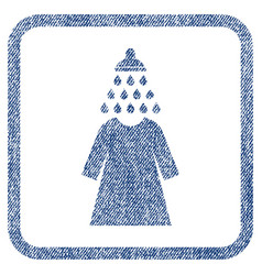 Shower wash female dress fabric textured icon vector