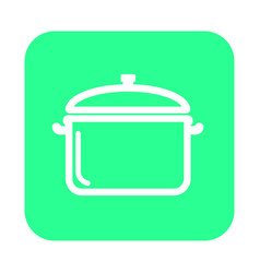 Thin line cooking pan icon vector