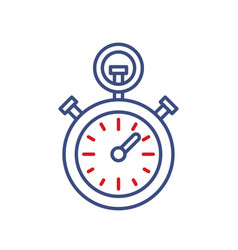 timer clock line icon sport championship vector image vector image