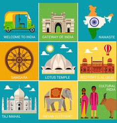 Travel places in india vector