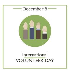 Volunteer day vector